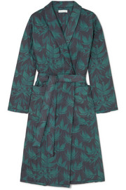 Byron printed quilted cotton robe