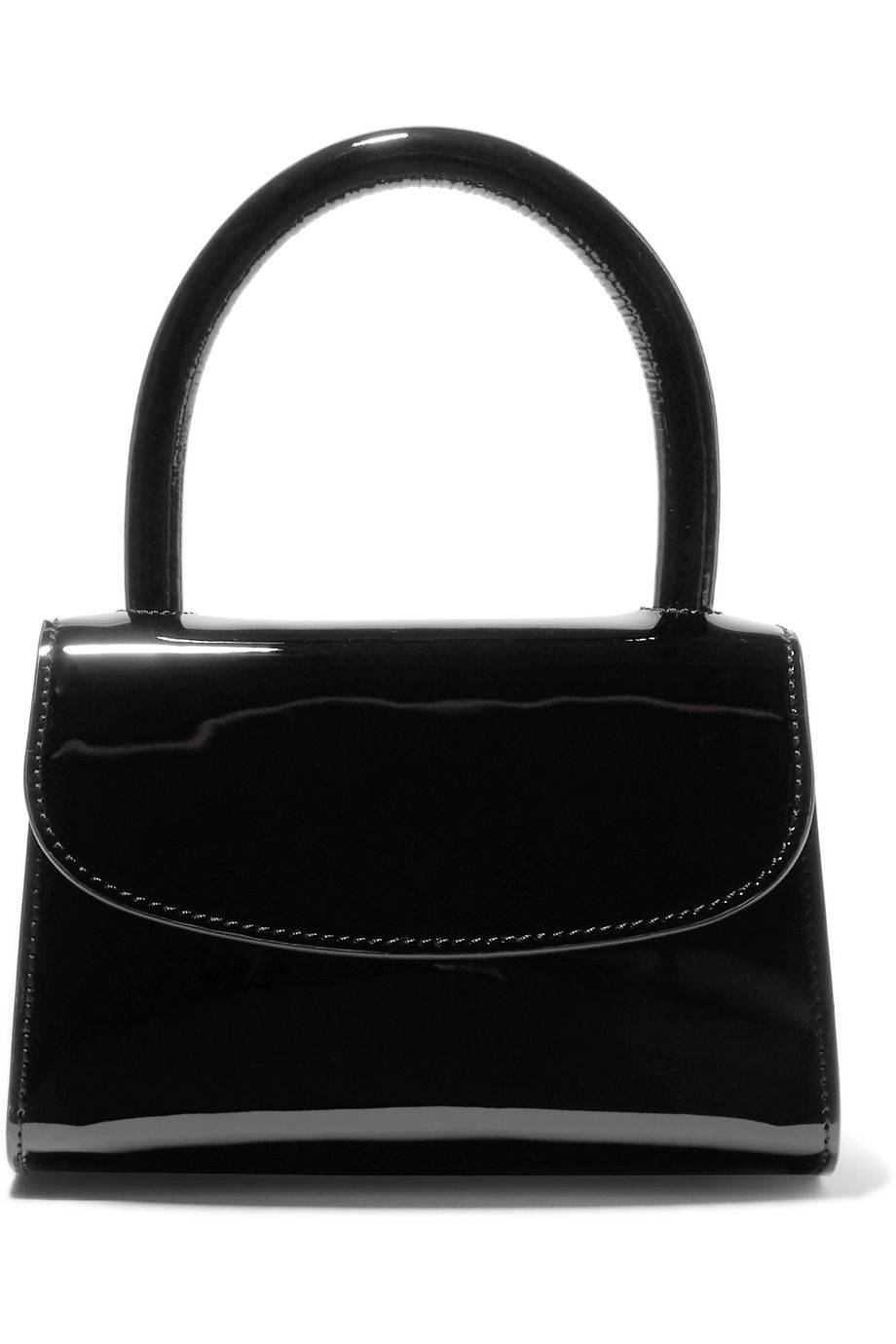 BY FAR Mini patent-leather tote