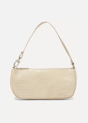 Rachel croc-effect leather shoulder bag