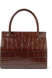 BY FAR Val croc-effect leather tote