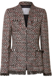 Miller embellished metallic tweed blazer