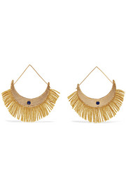 Azzura gold-plated resin earrings