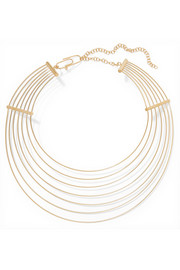 Thalia gold-plated necklace