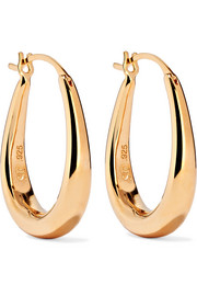 Sophie Buhai Extra Small Egg gold vermeil hoop earrings