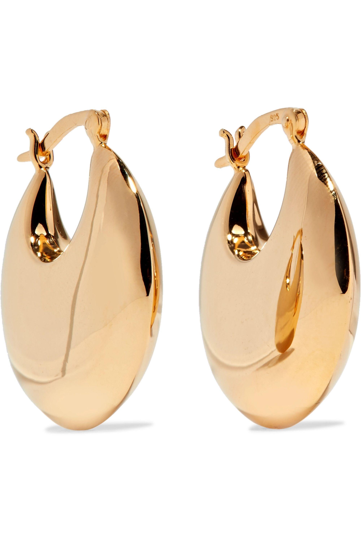 Sophie Buhai Cowbell gold vermeil hoop earrings