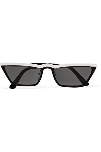 Women'S Ultravox Slim Cat Eye Sunglasses, 58Mm in Black