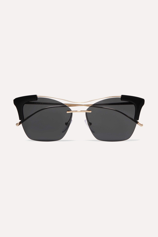 Prada Cat-eye acetate and gold-tone sunglasses