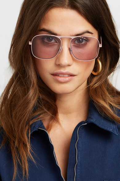 175877863 Shoptagr | Aviator Style Metal Sunglasses by Gucci