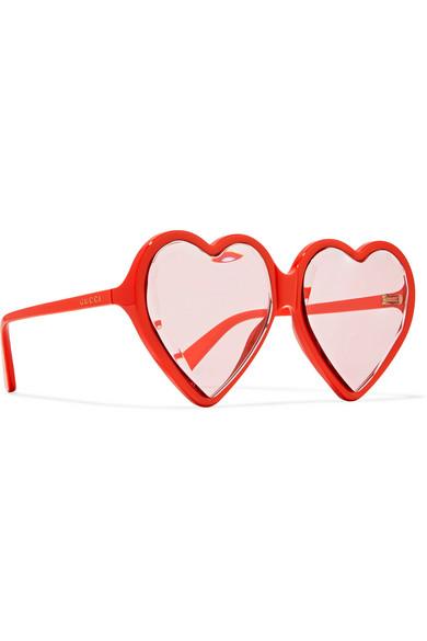 7adee5f76fa46 Gucci. Heart-shaped acetate sunglasses