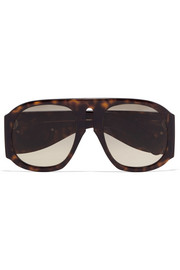 Embellished D-frame acetate sunglasses
