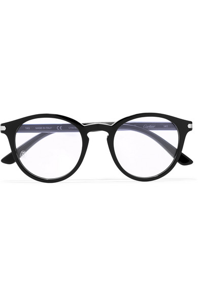 Round Frame Acetate Optical Glasses by Cartier Eyewear