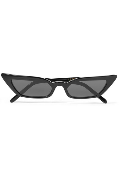 POPPY LISSIMAN Le Skinny Cat-Eye Acetate Sunglasses in Black