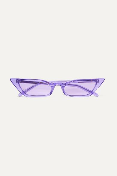 POPPY LISSIMAN Le Skinny Cat-Eye Acetate Sunglasses in Purple