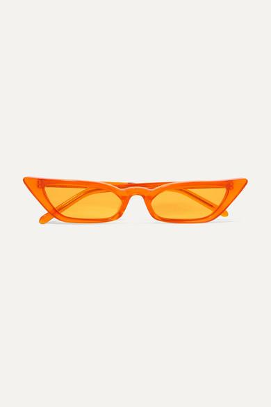 POPPY LISSIMAN Le Skinny Cat-Eye Acetate Sunglasses in Orange