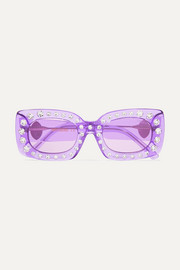 Poppy Lissiman Crystal Beth square-frame acetate sunglasses