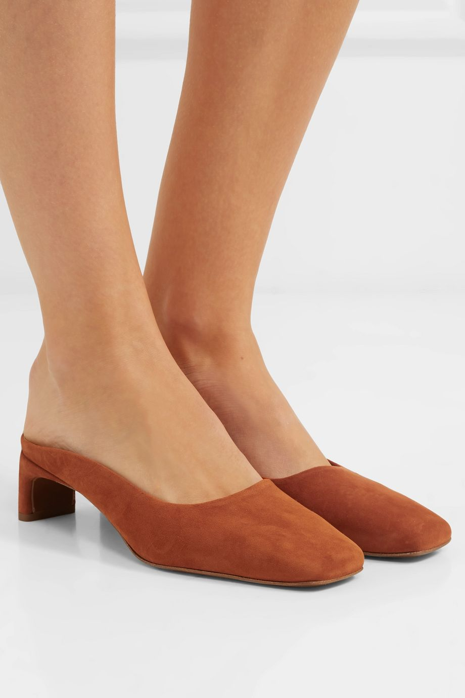 BY FAR Maria suede mules