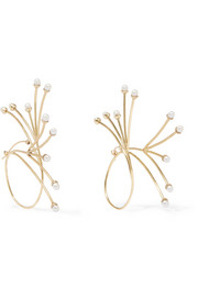 Rarig gold-plated pearl earrings