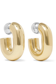 Ellery Classique gold and silver-plated hoop earrings