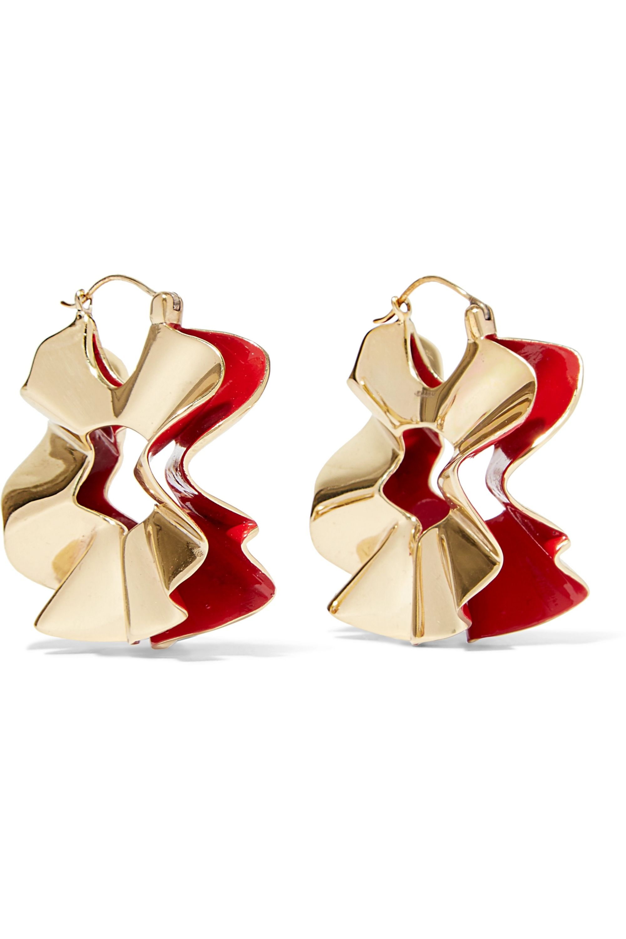 Ellery Beton Curl gold-plated and enamel earrings