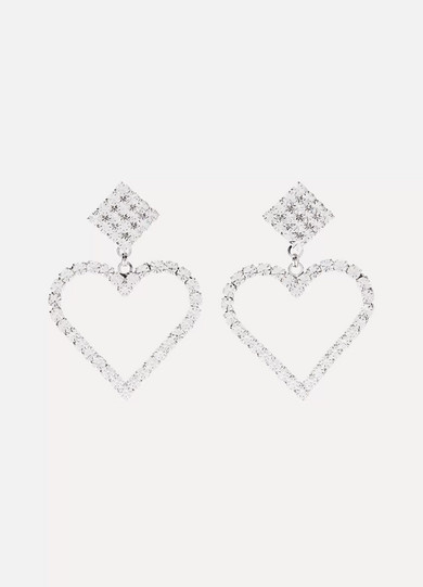 Alessandra Rich - Silver-tone Crystal Clip Earrings