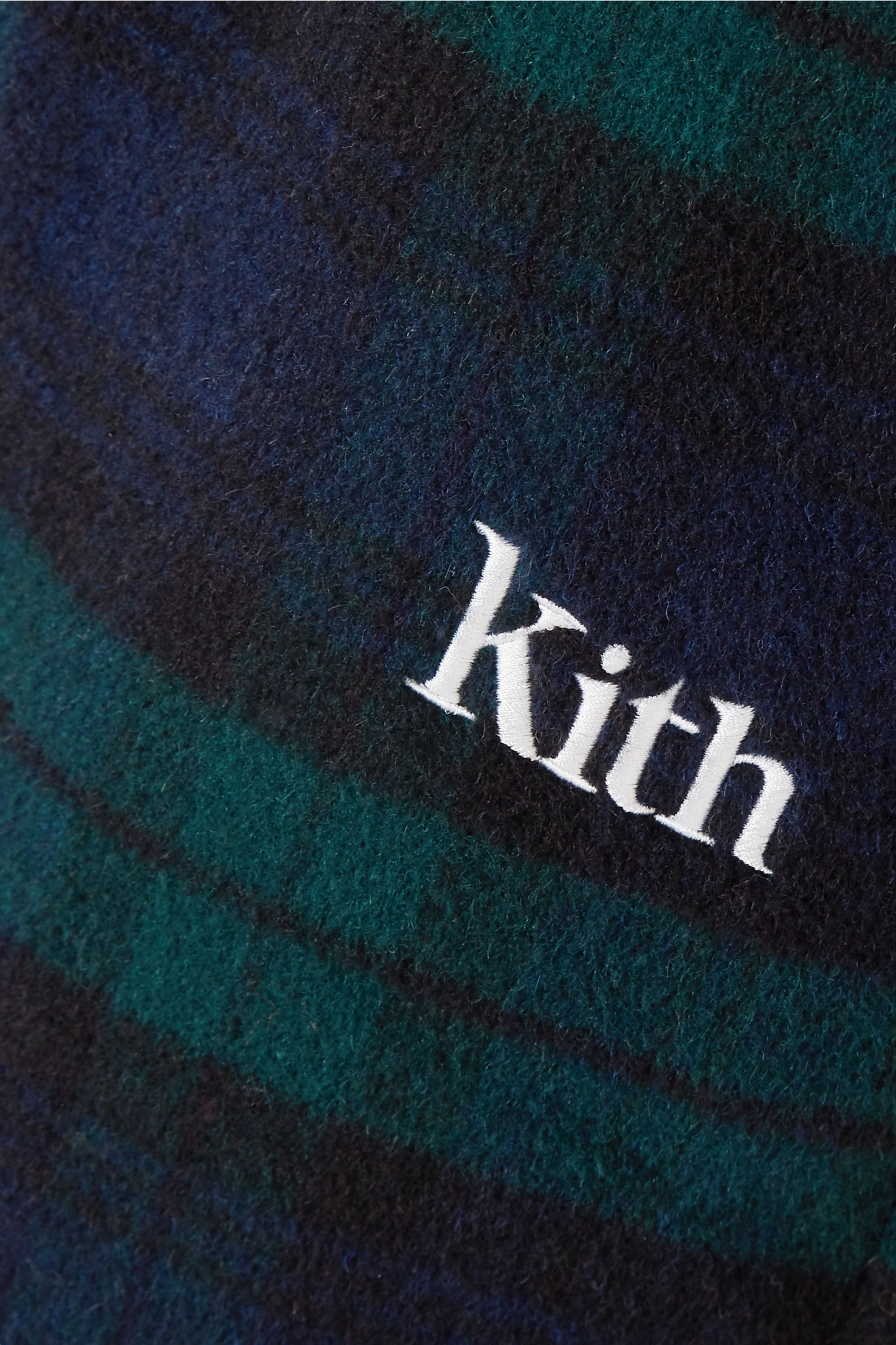 Kith Bailey checked wool-blend flared pants