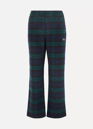 Kith - Bailey Checked Wool-blend Flared Pants - Black