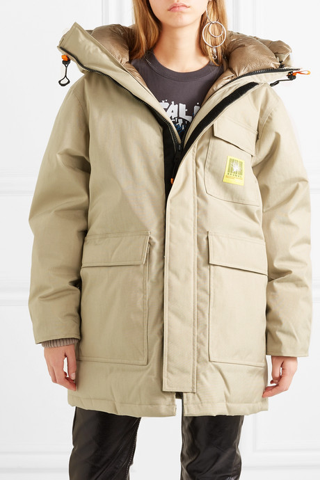 Oversized hooded down parka