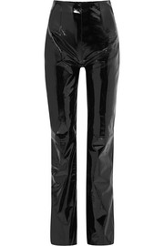 16ARLINGTON Patent-leather straight-leg pants