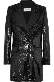 16ARLINGTON Sequined crepe mini dress