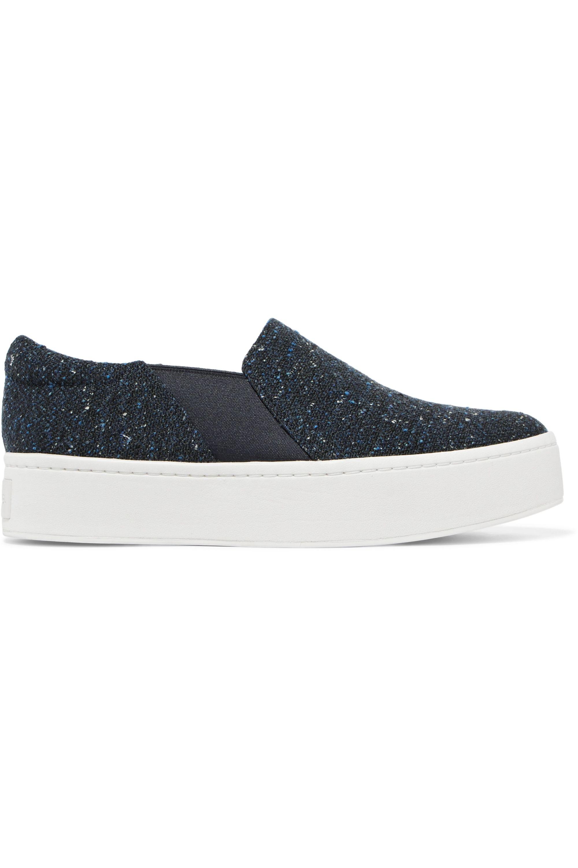 Navy Warren tweed slip-on sneakers