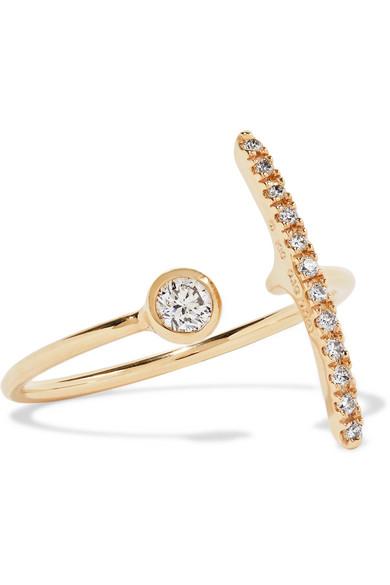 HIROTAKA 10-KARAT GOLD DIAMOND RING