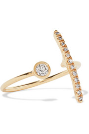 10-karat gold diamond ring