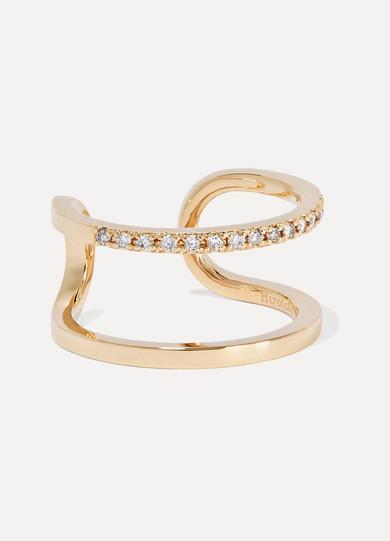 HIROTAKA MANHATTAN 10-KARAT GOLD DIAMOND RING