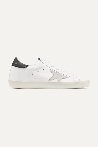 a4a9662ca8e Golden Goose | Superstar leather and suede sneakers | NET-A-PORTER.COM