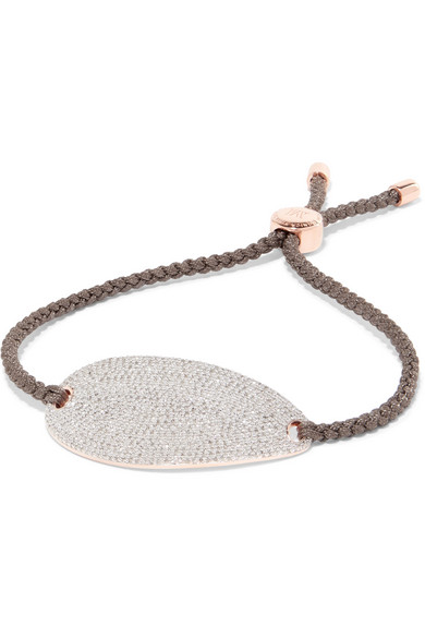 Monica Vinader - Nura Rose Gold Vermeil, Diamond And Woven Bracelet