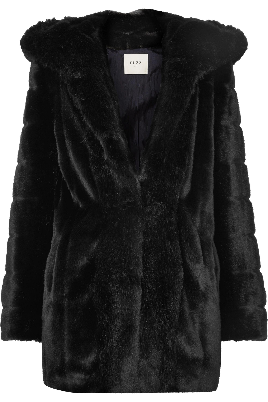 Fuzz Not Fur | Skate Moss hooded faux fur coat | NET A