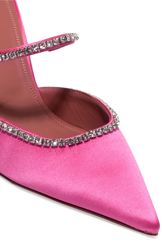 Amina Muaddi Gilda Swarovski crystal-embellished satin mules