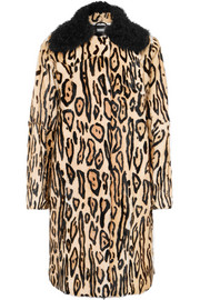 UTZON Leopard-print shearling coat