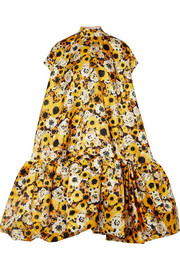Richard Quinn Oversized floral-print satin dress