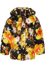 Richard Quinn Oversized floral-print shell jacket