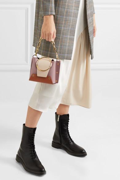 e2875866af Delila mini color-block textured-leather shoulder bag