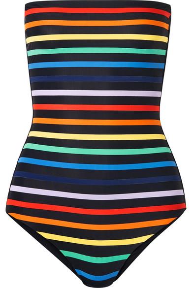 TM RIO Paraty Striped Bandeau Swimsuit