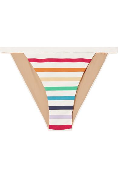 TM RIO Maraú Striped Bikini Briefs in White
