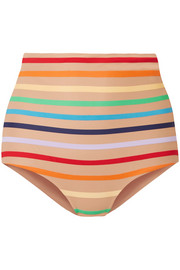 Milagres striped bikini briefs