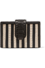 Ximena Kavalekas Mandolin striped python clutch