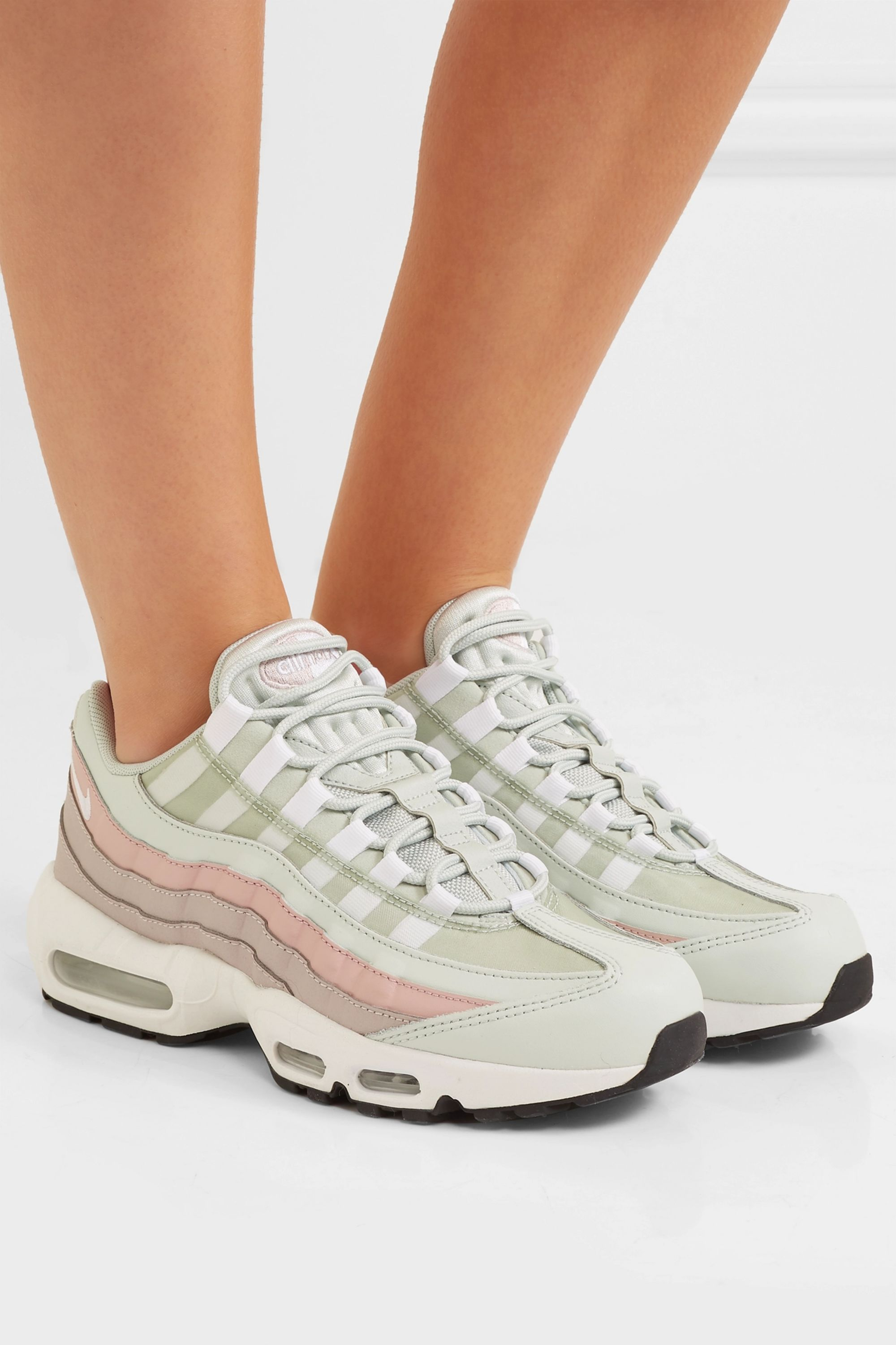 Air Max 95 suede, mesh and leather sneakers