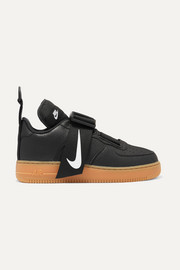 Nike Air Force 1 Utility piqué, smooth and textured-leather sneakers