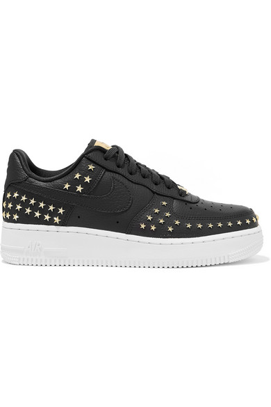 Air Force 1 '07 Lx Embellished Textured-Leather Sneakers in Gray
