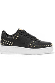 Nike Air Force 1 '07 LX embellished textured-leather sneakers