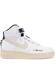 Nike Air Force 1 High Utility textured-leather high-top sneakers